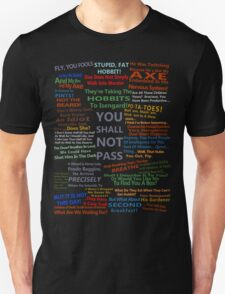 The Lord Of The Rings Quotes T-Shirt