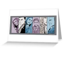 Agents of S.H.I.E.L.D. Line Up- Version 2 Greeting Card