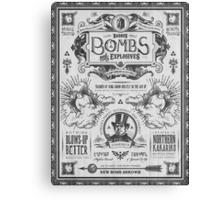 Legend of Zelda Barnes Bombs Vintage Ad Canvas Print