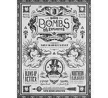 Legend of Zelda Barnes Bombs Vintage Ad Photographic Print