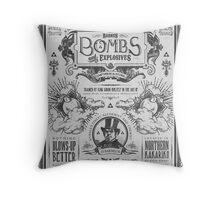 Legend of Zelda Barnes Bombs Vintage Ad Throw Pillow