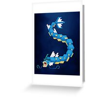 Blue Gyarados Greeting Card