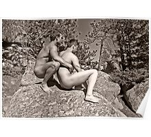 45118bw Male Couple Art Nude Poster