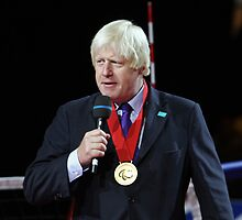 Boris Johnson receives the Paralympic order from the IPC by Keith Larby