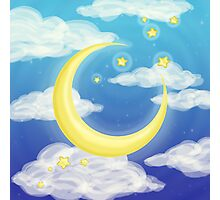 Moon Blue Photographic Print