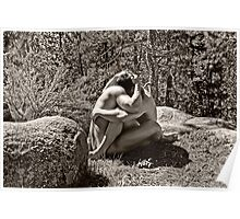 45259bw Embrace Male Couple Art Nude Poster
