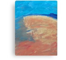 The Curve of the Beach Canvas Print