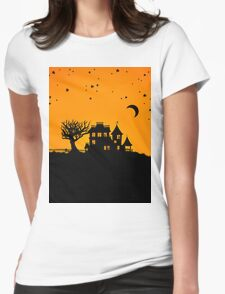 Jack O Lantern Manor Womens Fitted T-Shirt
