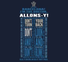 Doctor Who TARDIS Quotes shirt - Tenth Doctor Version by DesignComa