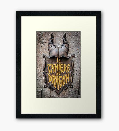 La Caniere du Dragon Framed Print