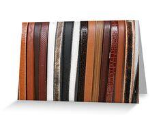 Handmade Leather Belts in Cotacachi Ecuador Greeting Card
