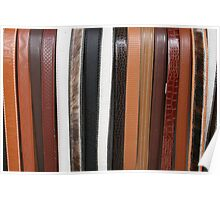 Handmade Leather Belts in Cotacachi Ecuador Poster