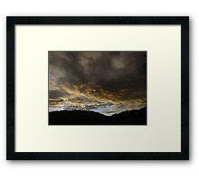 morning clouds above the sierra madre - nubes en la mañana en la sierra madre Framed Print