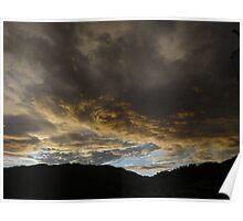 morning clouds above the sierra madre - nubes en la mañana en la sierra madre Poster