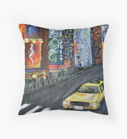 taxi cab Throw Pillow