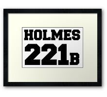 Sherlock - Team Holmes (black text) Framed Print
