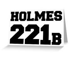 Sherlock - Team Holmes (black text) Greeting Card