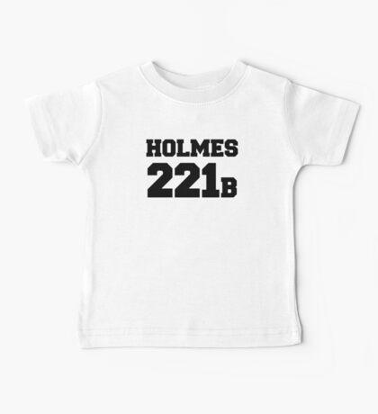 Sherlock - Team Holmes (black text) Baby Tee