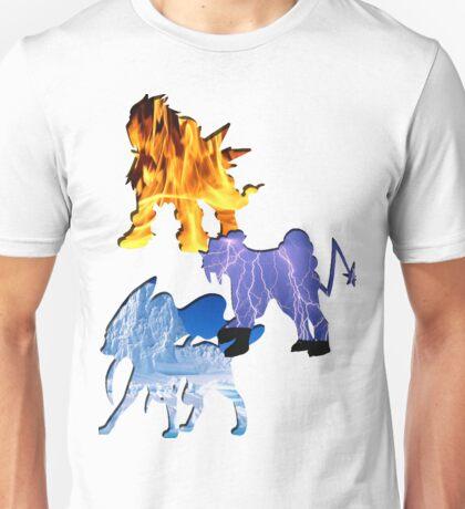 Raikou,Entei,Suicune Unisex T-Shirt
