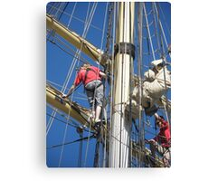STS Leeuwin  and Crew Canvas Print