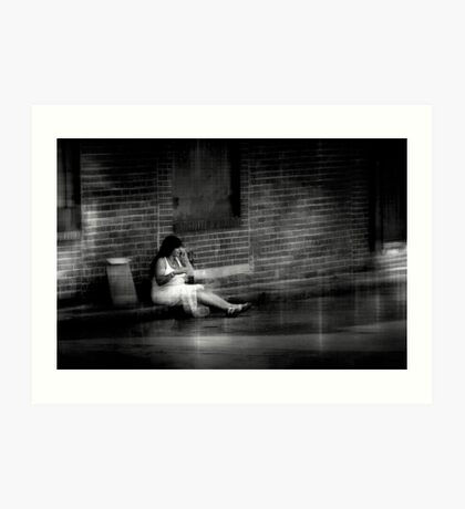 She had to leave but couldnt explain why Art Print