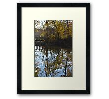 water runs through utopia Framed Print