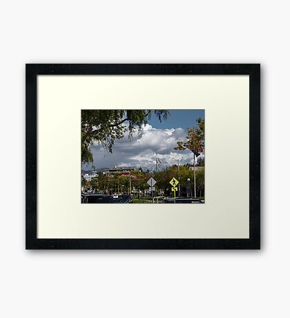 VIEW FROM MY ROOFTOP 1 Framed Print