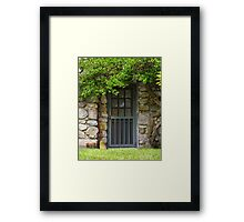 Garden Door Framed Print