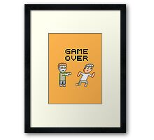Game Over Zombies Dead Pixel Framed Print