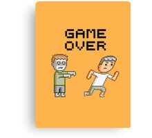 Game Over Zombies Dead Pixel Canvas Print