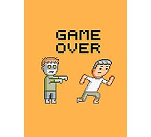 Game Over Zombies Dead Pixel Photographic Print