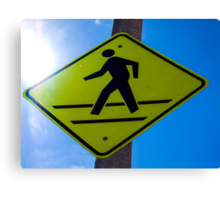 Cross Walk Sign in WEHO Canvas Print
