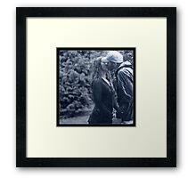 A Kiss In The Rain Framed Print