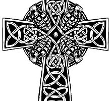 Celtic cross with grenades by harkinsa