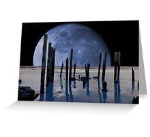 Surreal Moon Greeting Card