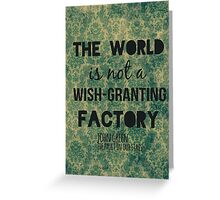 Wish-Granting Factory Greeting Card