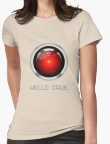 HELLO DAVE Womens Fitted T-Shirt