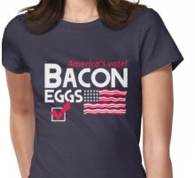 With Liberty and Bacon for All Womens Fitted T-Shirt