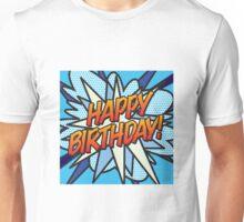 HAPPY BIRTHDAY blue Unisex T-Shirt