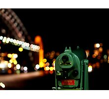 Bokeh Bridge Photographic Print
