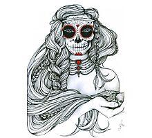 "Black and White Ink Illustration ""Jiibay II"" Photographic Print"