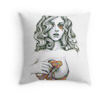 "Black and White, Rainbow Illustration ""Love Chasm"" Throw Pillow"