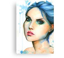 "Watercolor and Ink portrait ""Mara"" Canvas Print"