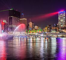 Brisbane Laser Show. Queensland, Australia. by Karen Duffy