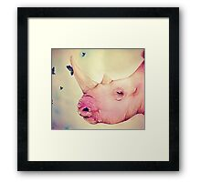 """Watercolor and Ink Rhino """"Beauty and the Beasts"""" Framed Print"""