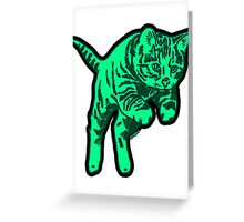 Ghost Cat in Mint Greeting Card