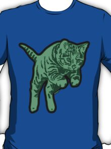 Ghost Cat in Mint T-Shirt