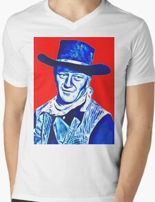 John Wayne in Red River Mens V-Neck T-Shirt