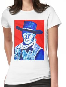 John Wayne in Red River Womens Fitted T-Shirt