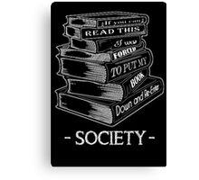 BOOK SOCIETY- Love books Canvas Print